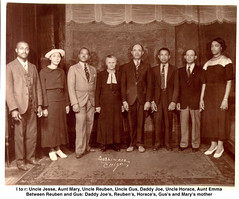 My Maternal Grandfather's Family, 1936 (artistmac) Tags: family portrait white chicago black race illinois mixed texas uncle tx south side great north group grandfather roots il nativeamerican aunt dna africanamerican southside longview groupportrait 20thcentury genetics maternal ancestry greatuncle uncles brownsville blackbelt greataunt bronzeville greatmigration genaeology
