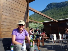 "Edita enjoys a beer below Monte Circeo • <a style=""font-size:0.8em;"" href=""http://www.flickr.com/photos/41849531@N04/16966997004/"" target=""_blank"">View on Flickr</a>"