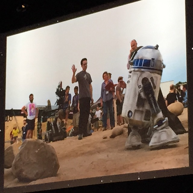 Set photo from Star Wars The Force Awakens #starwars #swca #R2D2