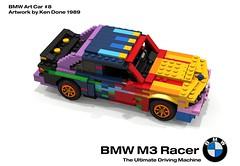 BMW M3 Racer - BMW Art Car #8, Ken Done - 1989 (lego911) Tags: auto art classic car germany championship model lego render ken racing german rush bmw 1989 done fools m3 1980s 90 coupe challenge e30 cad racer lugnuts povray moc ldd 2015 foolsrushin miniland lego911 artcar2015