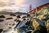 Wrecked. (Denis Lincoln) Tags: ocean sanfrancisco longexposure landscape goldengatebridge fujifilm goldenhour xe1 leefilters 9gnd littlestopper leesevenfive