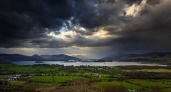 View from Duncryne Hill (GenerationX) Tags: sky sun mountains water clouds landscape evening scotland unitedkingdom dusk scottish neil fields rays loch drama trossachs balloch lochlomond barr luss duncryne bestview gartocharn smallhill