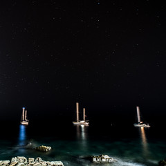 Moored Boats, Mogan (Sigurd R) Tags: longexposure grancanaria night sailboat coast spain harbour tripod canarias es puertodemogn lomoquiebre