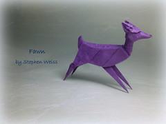Fawn designed by Stephen Weiss (Thomas Krapf Origami) Tags: paper origami stephen fawn papier weiss paperfolding reh stephenweiss rehkitz papierfalten