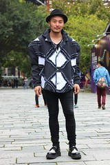 Wind 1 (The Style Collector) Tags: street boy man hat fashion taiwan style jacket taipei fashionista creepers stylish streetwear streetfashion streetstyle fashionstyle skinnyjeans taipeiinstyle
