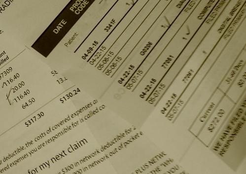 medical bills, From FlickrPhotos