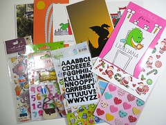 Private swap - sent (Jogilus Handmade) Tags: swapbot sticker stickers heart owl elephant number numbers letter letters snailmail postcard postcards ljubljana snail mail happy parcel swap post