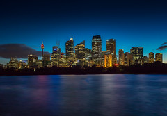 Sydney City Skyline at Dusk (Jos Buurmans) Tags: australia capitalcity centralbusinessdistrict city citylandscape cityscape dusk evening newsouthwales skyline sydney urbanscape
