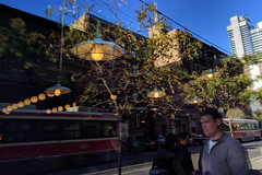 inside and outside of the simulation (Ian Muttoo) Tags: img20161014172527edit toronto ontario canada gimp reflection reflections weslodge saloon restaurant kingst kingstreet king