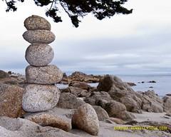 005 balance B LR (bradleybennett) Tags: water river ocean stream creek beach shore shoreline line coast tide rock stack stacking statue