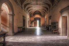 """ L'accoglienza.."" (Giovanni Cedronella) Tags: abandoned architecture shadows dust dreem door decay forgotten urbex light"