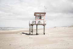 costa esmeralda (el genio del dub) Tags: beach seaside sand ocean sea atlantic pinamar baywatch lifeguard lifeguards landscape skyline costa esmeralda