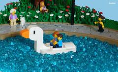 Gander Park (snaillad) Tags: moc lego town city park gander goose swan boat fun 60134