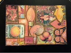 Color series postcard exchange - ORANGE (juliajae) Tags: mailart postcard orange collage mixedmedia colorseries exchange