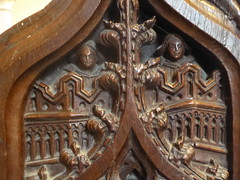 Medieval Carving, Barkestone (Aidan McRae Thomson) Tags: barkestone church leicestershire medieval woodwork woodcarving