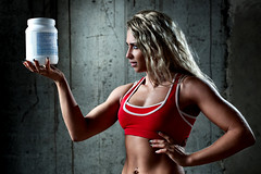 Sports nutrition (tension_magazine) Tags: people body adult young female human 20s slim caucasian athlete person one woman european strong bodybuilding portrait beauty beautiful muscular building sexy sensuality wall fitness girl model fashion attractive pretty perfectbody lingerie sideview profile red blond power food meal nutrition protein foodadditive russianfederation