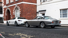 Modern GT vs Classic GT (m.grabovski) Tags: ferrari 250 gt lusso mercedes sls amg jd classics mayfair london england great britain mgrabovski