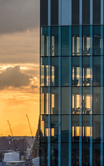 Transparent Background (DobingDesign) Tags: residential resi corporaterealestate windows offices officebuildings structure lines glass sunset orange clouds silhouette london londonarchitecture cityscape sky sun dusk sunsetting lookingwest architecture buildings
