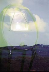 Nikon F55   Fuji Superia 200   Overhead Lighting (Double Exposure) (TheCheshiretographer) Tags: nikon f55 n55 35mm fuji superia 200 double exposure cheshire landscape cows kfc coca cola badger beer light lights plants uk