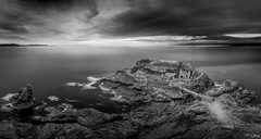 Fort des capucins - ( Explore 12/10/16) (f.ray35) Tags: black white fort sky long exposure nd1000 filter canon clouds britany finistère france