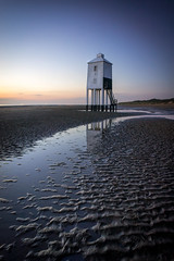 Just In The Nick Of Time (Joshua Maguire Photography) Tags: landscape water seascape nature travel adventure beauty sea light house sunset colour blue hour long exposure