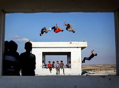 #Palestinian youths practice #Parkour among the ruins of buildings that were damaged in the most recent Israeli war on #Gaza. (TeamPalestina) Tags: dailylife night light instagram freepalestine palestinian sunrise sweet beautiful heritage live photo photographer comfort natural  palestine amazing innocent occupation landscape landscapes reflection blockade hope canon nikon