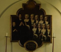 The family of Vicar Erik Sinius (frankmh) Tags: painting priest vicar family art brunnbychurch skåne sweden indoor