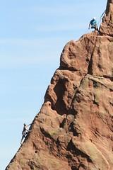 Garden of the Gods (Inside & Out Photography) Tags: gardenofthegods red rocks cliffs boulders bouldering climbing climb blue sky climbers