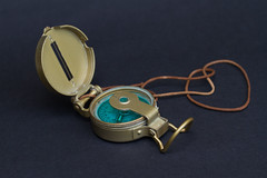 I am Old (Patricia Woods) Tags: macro compass antique old