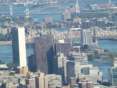 Aerial View, East River, Roosevelt Island, 59th Street Bridge, United Nations, One World Observatory, New York City (lensepix) Tags: aerialview eastriver rooseveltisland 59thstreetbridge unitednations oneworldobservatory newyorkcity skyscraper