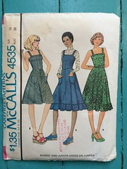 McCall's 4535 (kittee) Tags: kittee vintagesewing vintagepattern mccalls mccalls4535 4535 size16 bust38 sundress dress pockets shoulderstraps straps 1970s 1975 lenttoerika misses junior