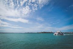 Auckland Harbour (Marcos Venicius) Tags: auckland novazelndia city street queenstreet harbour urban clouds blue photography buildings sea