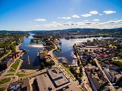 Skien fra oven  (dronepilotene) Tags: river norge telemark inspire1 dji flying dronefoto skien