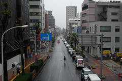 Day 336/366 : The final month countdown has started with rain -  (hidesax) Tags: 336366 thefinalmonthcountdownhasstartedwithrain  street rainy day cars lines passersby umbrella hazy sky ageo saitama japan december 2016 hidesax leica x vario 366project2016 366project 365project