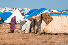 A Furniture Company Found A Way To Save The Lives Of Thousands Of Refugees (autosurf2013) Tags: refugee syria displacedpersons refugeecamp homeless oneperson outdoors crowded dirt dirty middleeast arab satellitedish arabspring crisis people woman female