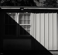 Lines & Shadow (❀Janey Song) Tags: lines shadow street vancouvercanada windows wall building blackwhite black white bw omot cans2s stilllife