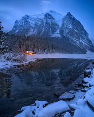 'Hello Winter'' - Lake Louise,Alberta (Gavin Hardcastle - Fototripper) Tags: winter cold ice snow mountains lake louise alberta banff freezing frozen reflection gavinhardcastle fototripper