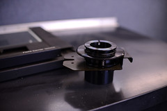 (John Donges) Tags: laboratory old disused science equipment microfiche reader gear cog unit black plastic 8756