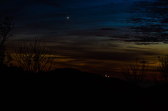 The sun goes down and you can see the evening star (Venus) - Odenwald / Germany (Udo S) Tags: night star venus odenwald sunset abendstern evening nacht germany sonnenuntergang