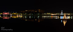 Crane's Roost Christmas Panorama 2016 (H2OJunkie) Tags: panoramic pano cranessroostpark altamontesprings florida christmas decorations publicpark canon7d canon canon28mmf18efusm manfrotto longexposure extendedexposure night christmaslights