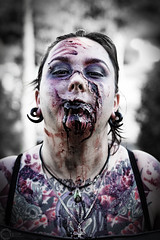 DSC_9464 (PhilPhotosity) Tags: horror dead undead zombie scary gross blood halloween halloween2016 monster makeup sfx specialfx mua face gore scars