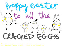 Happy Easter to all the cracked eggs! (Heidi Burton / Making Strangers) Tags: silly art illustration easter fun typography crazy drawing humour type eggs characters lettering cracked yolk boiledeggs derp handdrawntype handmadetype amuseballz
