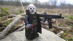 Yakuza Shotgunner (The Brick Guy) Tags: outside lego prototype vat custom yakuza cyberpunk minifigure shotgunshell aa12 shotgunner brickarms mmcb
