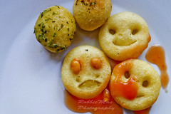 """massacre of the smiley faces... (robbieMacphotos """" photography mojo lost , reward o) Tags: food get photoshop out beans sad faces massacre more smiley must"""