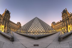 (vv) (J P | Photography) Tags: life morning wallpaper sky paris architecture sunrise french nikon photographie angle louvre ps muse jp 28 105 nikkor pyramide hdr parisian hdri matin musedulouvre louvremuseum parisien leverdusoleil jpphotography d7000
