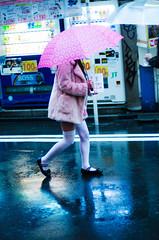 DSC_4998 (inhiu) Tags: street pink portrait girl rain japan tokyo nikon candid   maid jpanese    d7000 inhiu