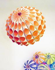 Gourd/Sea Creature - Paper Art (Carlos N. Molina - Paper Art) Tags: orange ball paper paperart origami ornament gourd sphere kirigami papercraft papermodel papersculpture paperartist carlosnmolina