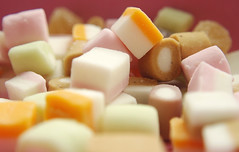 Sugar rush [13/52] (Kirotea) Tags: pink white macro closeup colours candy sweet pastel sugar treat ptm sugarrush dollymixture pastelcolours 52weekproject paintthemoon samsungnx macrocloseuprings macrolensrings