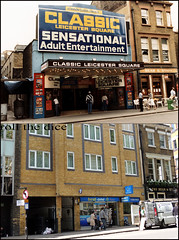 Charing Cross Road`1983-2013 (roll the dice) Tags: old uk white cinema london art history classic beer westminster pub sad traffic adult ale gone collection porn leicestersquare cameo local 1983 van changes demolished charingcross westend oldandnew whitevan publichouse wc2 pastandpresent bygone hereandnow broadcastnews robertatkinson nicholsons