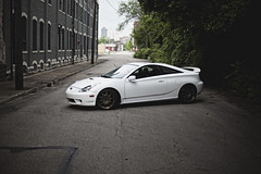 (beatty.alex) Tags: street ohio white car ally automobile wheels toyota vehicle dayton jdm volk celica gts stance
